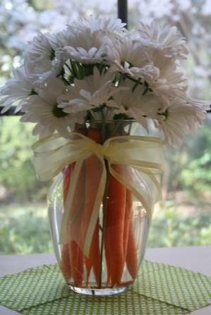 Vaso com cenouras